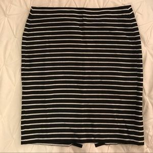 Striped J Crew Factory Pencil Skirt